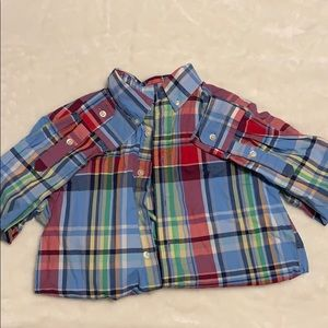 Plaid buttoned down shirt for boy
